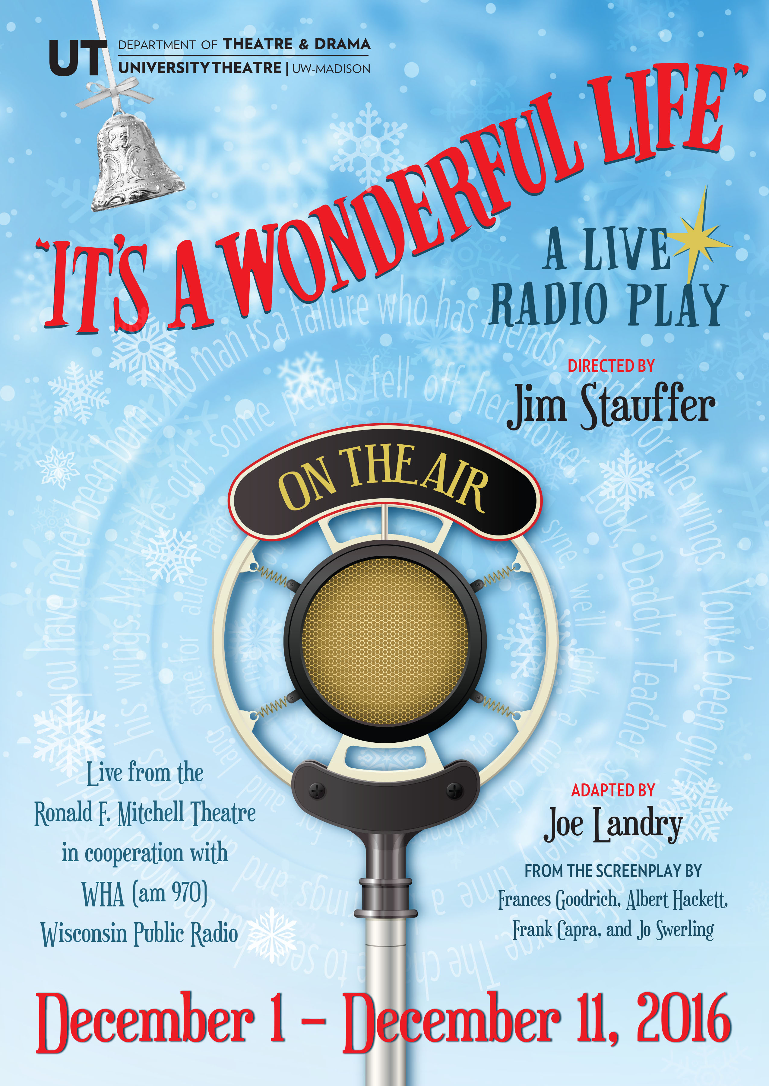 Its A Wonderful Life Department Of Theatre And Dramadepartment Of Theatre And Drama